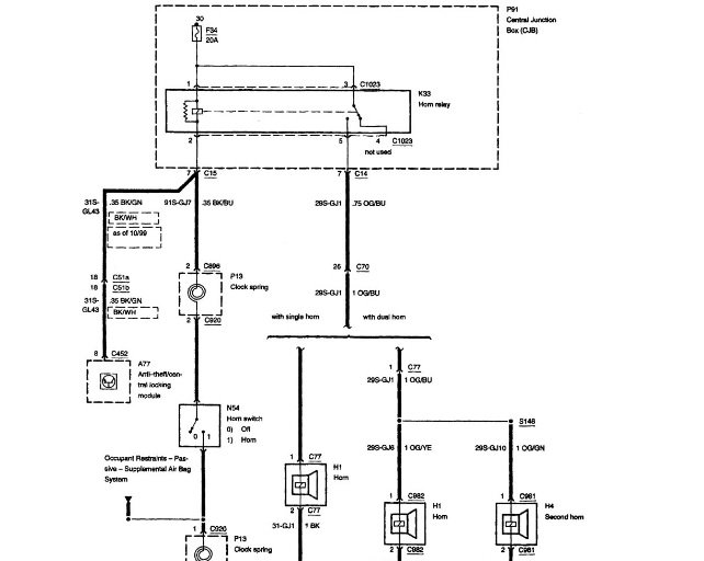 Ford Focus Questions Horn Not Working Cargurusrhcargurus: 2001 Ford Focus Steering Column Wiring Diagram At Gmaili.net