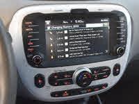 2019 Kia Soul EV + FWD, 2019 Kia Soul EV UVO Eco nearby charging stations display screen, interior, gallery_worthy
