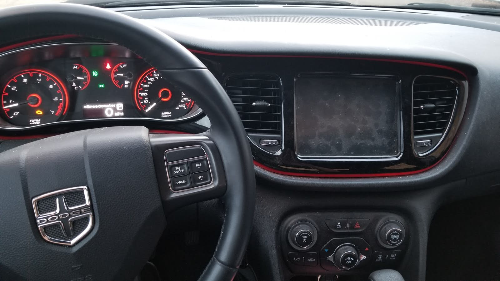 Dodge Dart Questions - Radio display is black and not