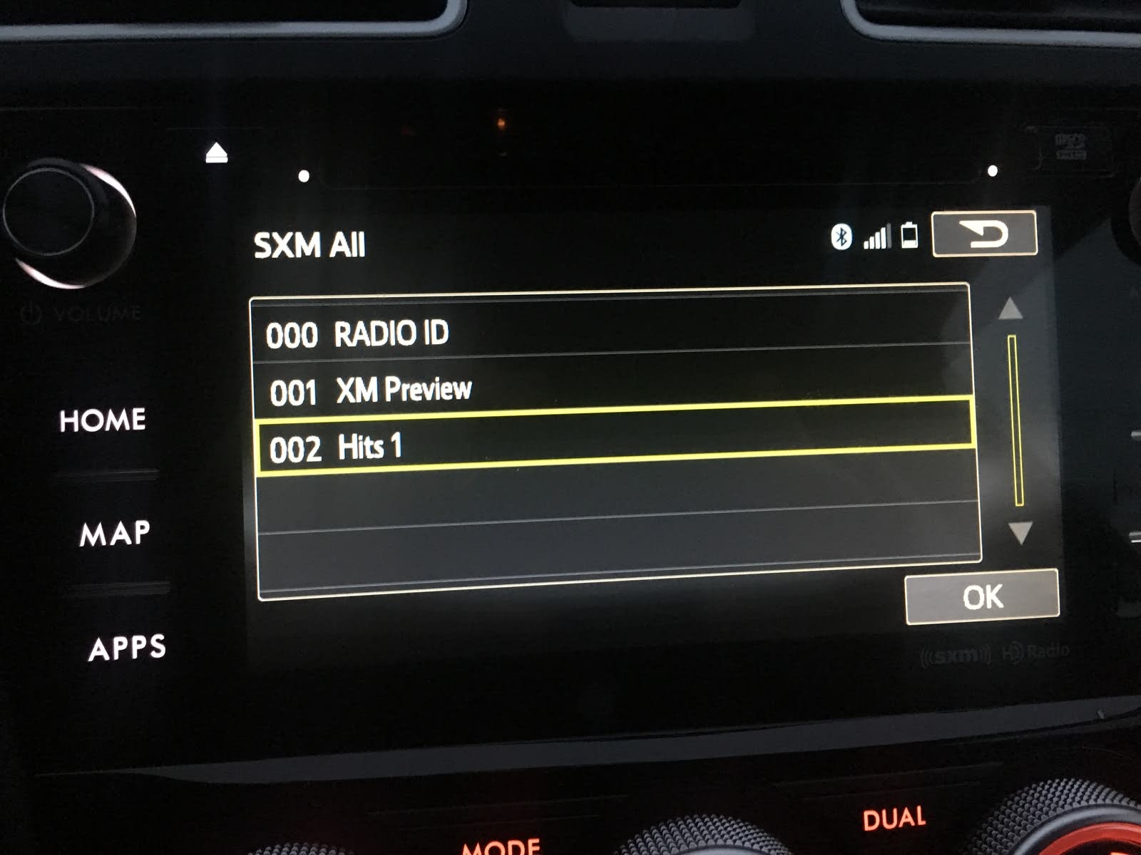 Subaru Forester Questions - SXM radio categories are not