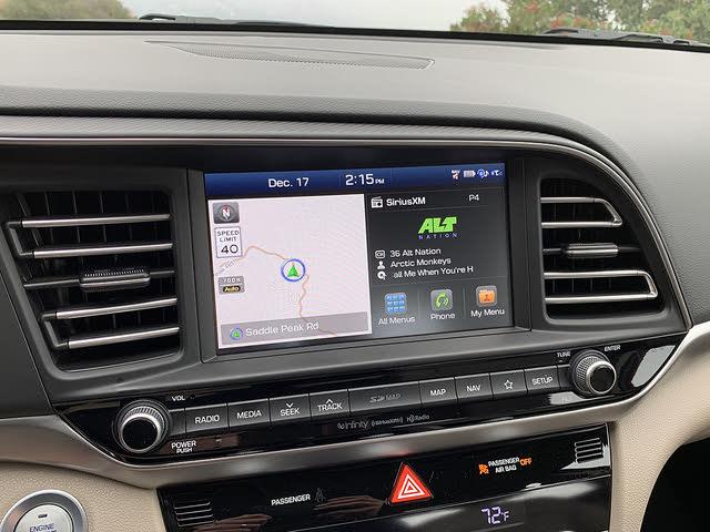 2019 Hyundai Elantra Limited Sedan FWD, 2019 Hyundai Elantra Limited infotainment system home screen display, interior, gallery_worthy