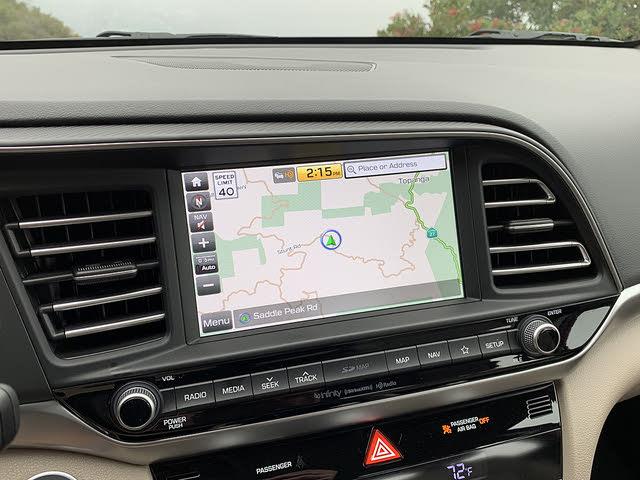 2019 Hyundai Elantra Limited Sedan FWD, 2019 Hyundai Elantra Limited navigation system display, interior, gallery_worthy