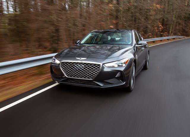 2019 Genesis G70, G70 Driving, exterior, gallery_worthy