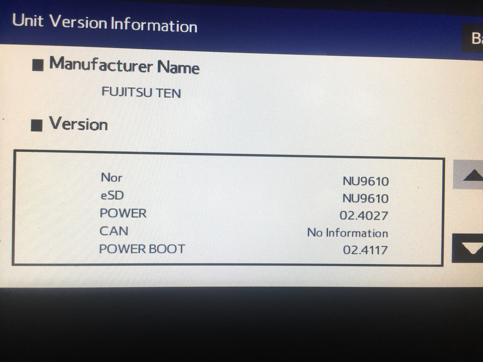 Subaru Forester Questions - SXM radio categories are not showing