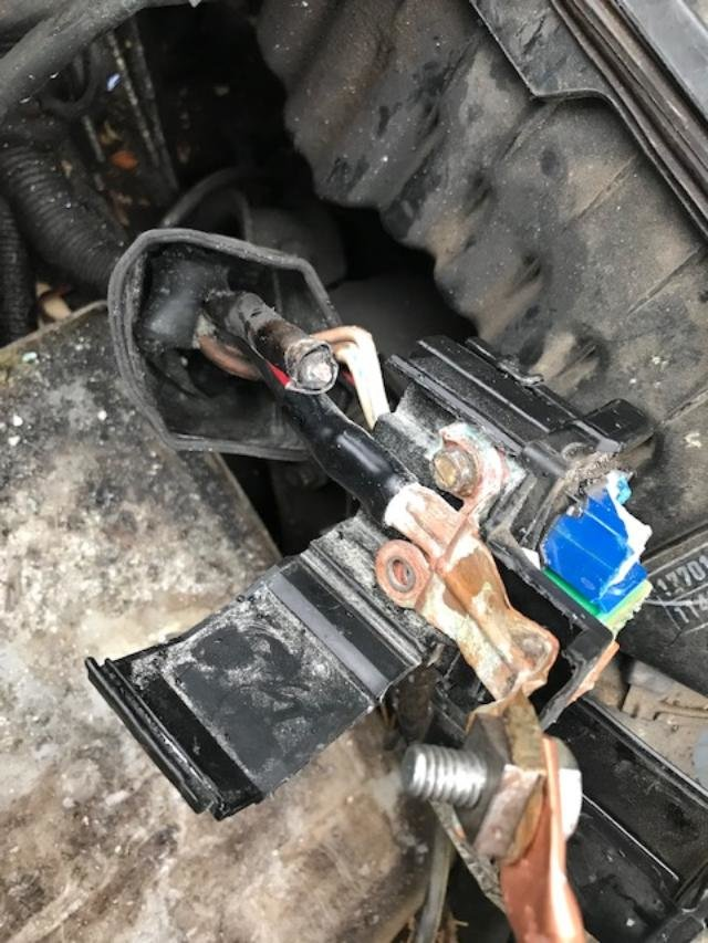 how do i fix a broken cable on my alternator fuse box? 1991 toyota corolla