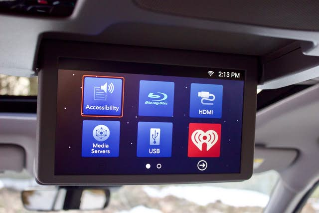 Rear entertainment system of the 2019 Honda Pilot, gallery_worthy