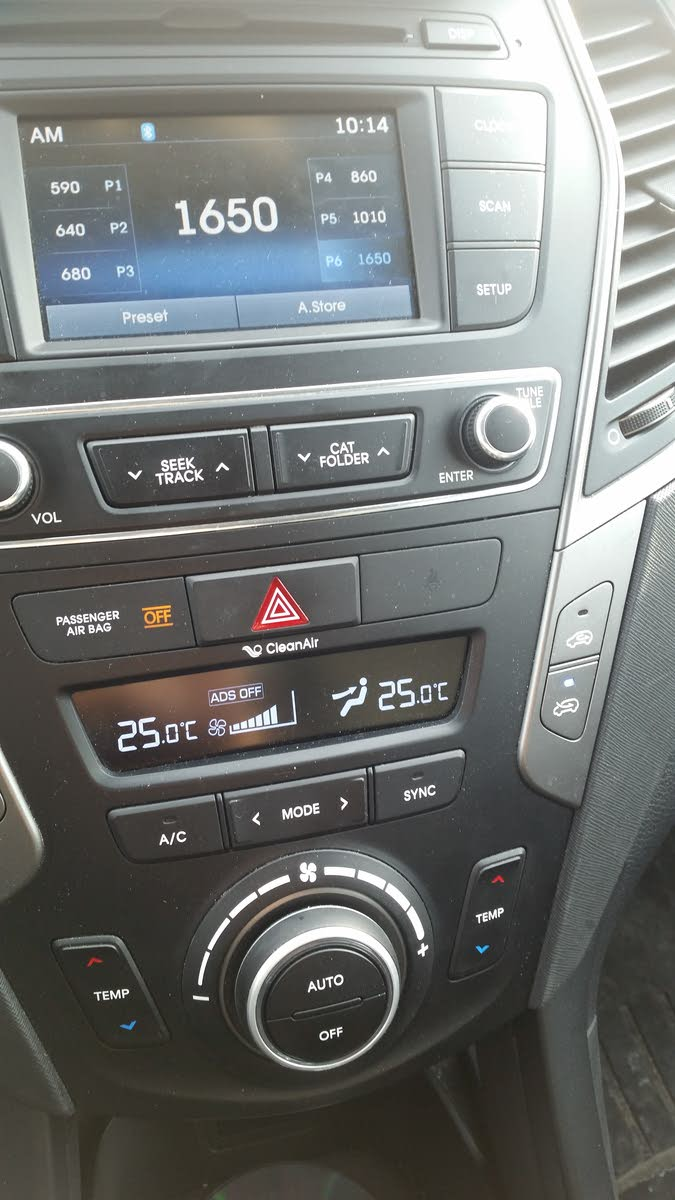Hyundai Santa Fe Questions - What does Ads off mean on my