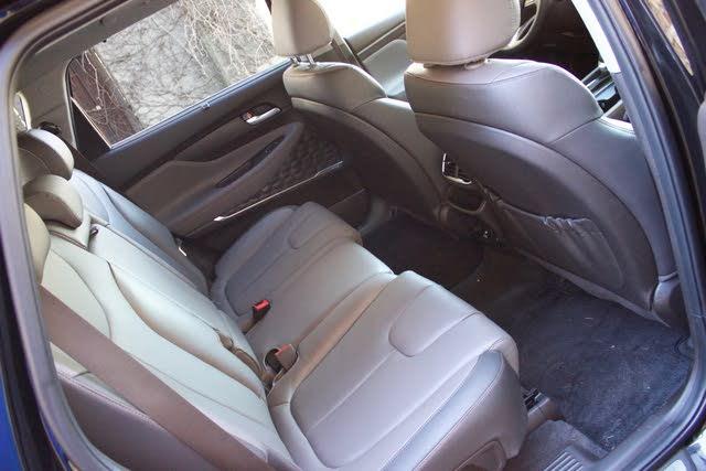 Rear seat area of the 2019 Hyundai Santa Fe, interior, gallery_worthy