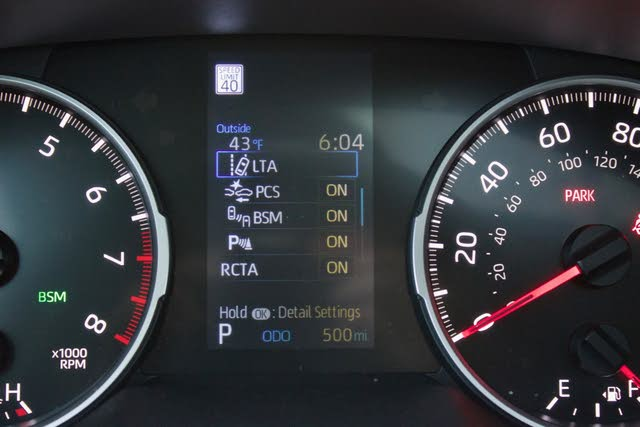 Driver assistance display of the 2019 Toyota RAV4., interior, gallery_worthy