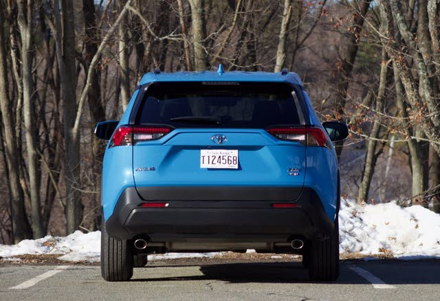 Rear profile of the 2019 Toyota RAV4., exterior, gallery_worthy