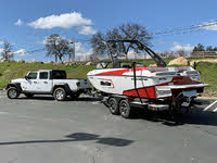 2020 Jeep Gladiator Sport S White Towing 5,000-pound trailer with boat, exterior, gallery_worthy