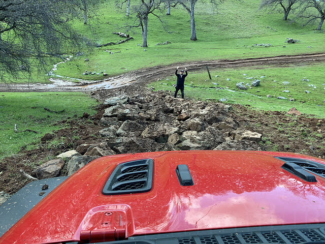 2020 Jeep Gladiator Rubicon View From Drivers Seat Off-Road, interior, gallery_worthy