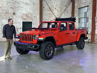 2020 Jeep Gladiator Rubicon Firecracker Red Windshield Down Top Off, exterior, gallery_worthy