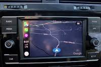 Google Maps running on Apple CarPlay in the 2019 Volkswagen Golf SportWagen., interior, gallery_worthy