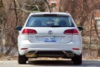 Rear profile of the 2019 Volkswagen Golf SportWagen., exterior, gallery_worthy