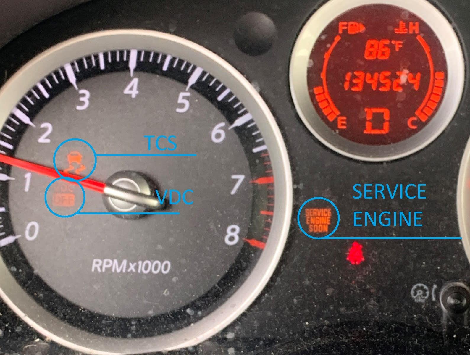 Nissan Sentra Questions - Vdc light check engine light car