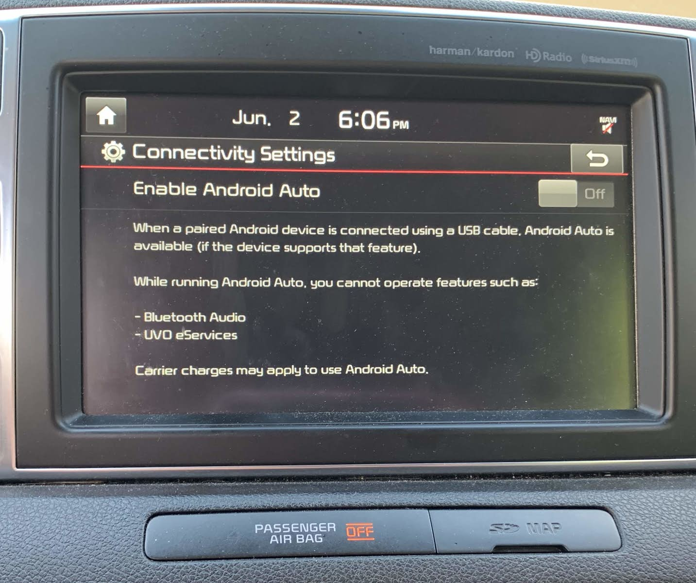 my android auto is not connecting to my car