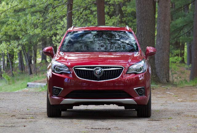 Front profile of the 2019 Buick Envision., exterior, gallery_worthy