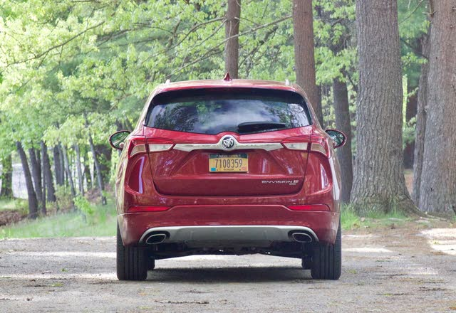 Rear profile of the 2019 Buick Envision., exterior, gallery_worthy