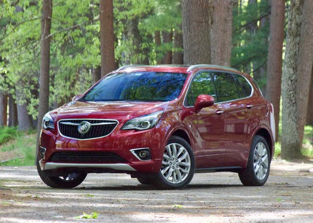 Front 3/4 profile of the 2019 Buick Envision., exterior, gallery_worthy