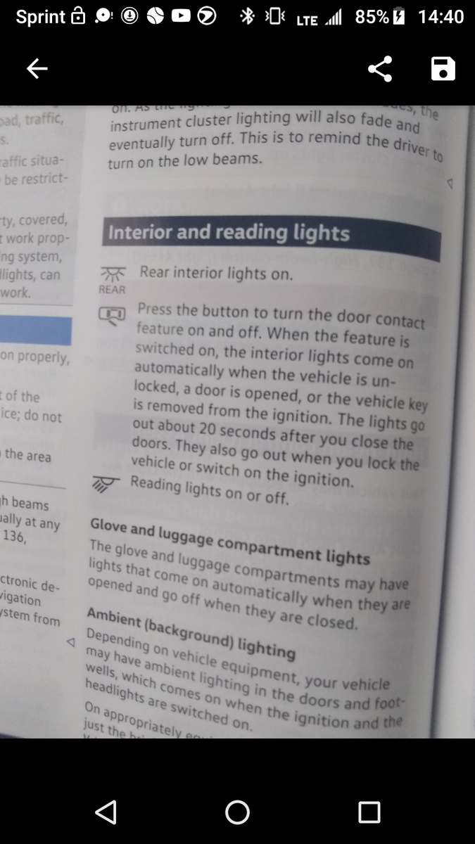 Volkswagen Tiguan Questions - Reading Lights won't go off