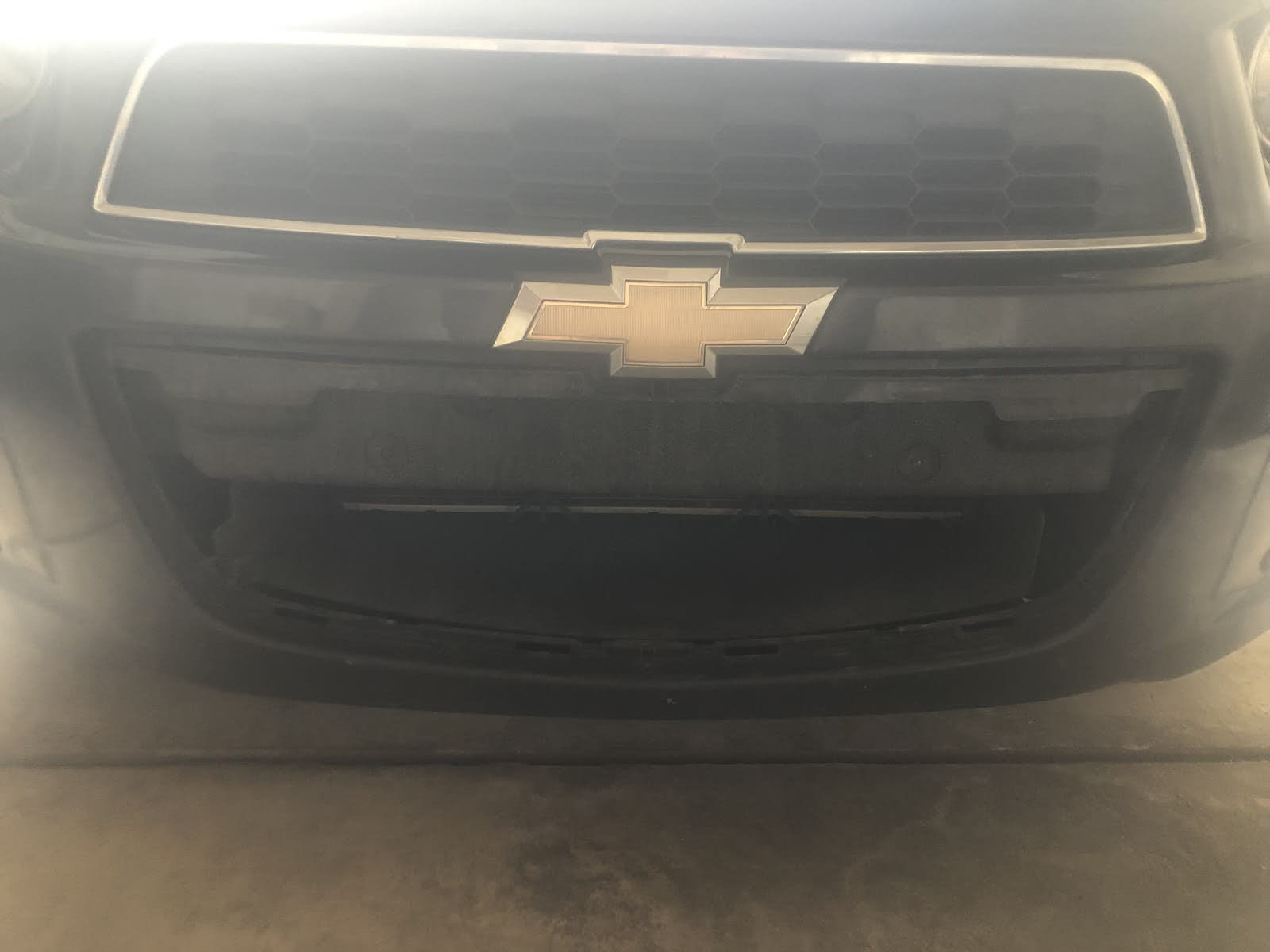 Chevrolet Sonic Questions - Front Bumper Lower Grille fell