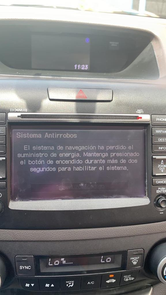 Radio Navicode Honda Com >> Honda Cr V Questions What Must Be Done To Enter Code After Battery
