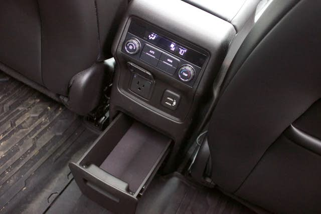 Rear seat climate controls of the 2019 GMC Acadia., interior, gallery_worthy
