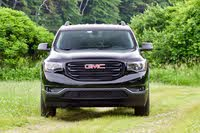 Front profile of the 2019 GMC Acadia., exterior, gallery_worthy