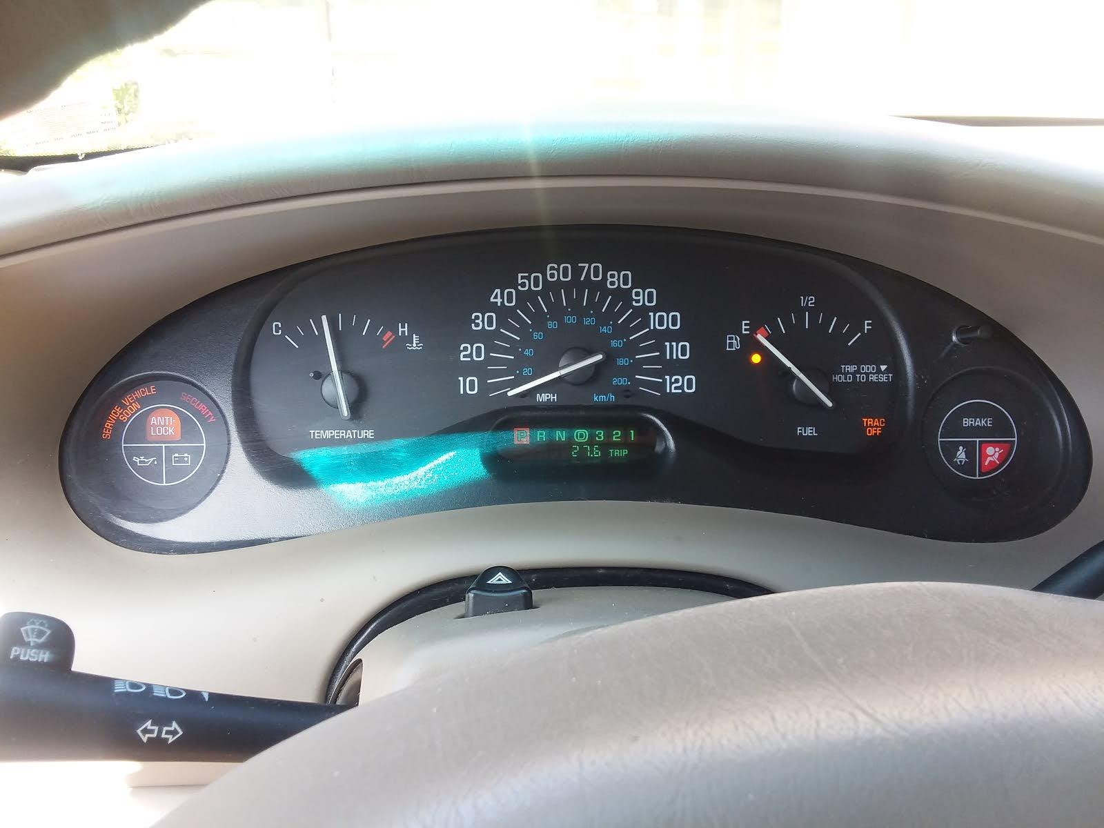 2001 Buick Century Instrument Cluster Repair