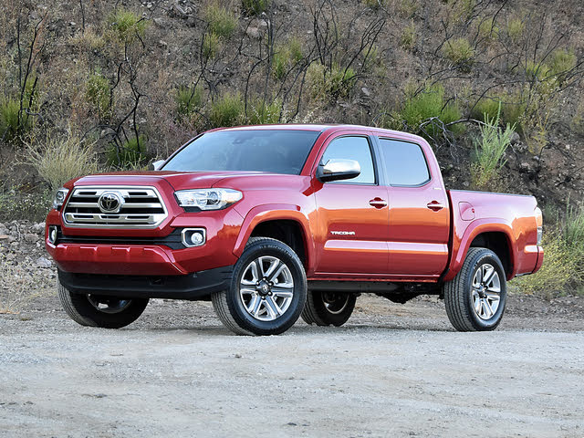 2019 Toyota Tacoma Limited Red Front Quarter