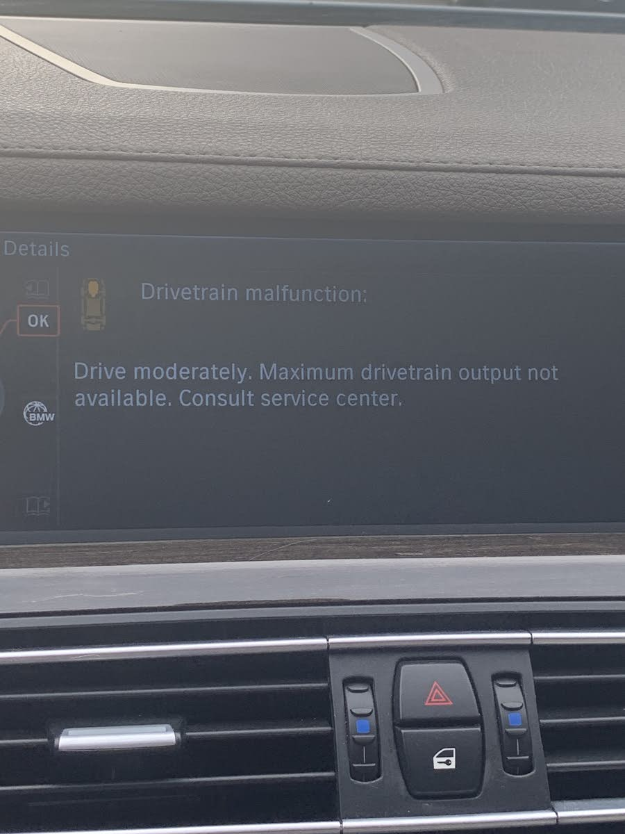 BMW 7 Series Questions - System prompts me to drive moderately