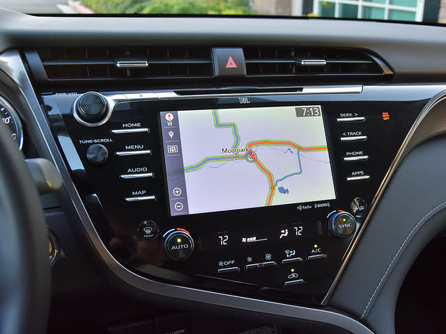 2019 Toyota Camry XSE V6 FWD, 2019 Toyota Camry XSE Entune 3.0 Navigation Map, interior, gallery_worthy