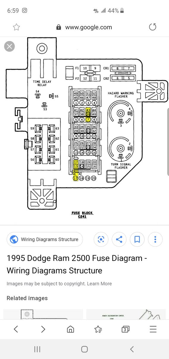 Dodge RAM 3500 Questions - Relays inside cab fuse box - CarGurusCarGurus