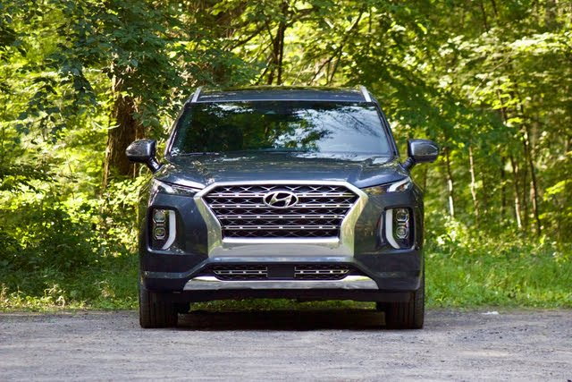 Front profile of the 2020 Hyundai Palisade., exterior, gallery_worthy