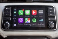 NissanConnect infotainment system of the 2020 Nissan Versa. Apple CarPlay is presented. , interior, gallery_worthy