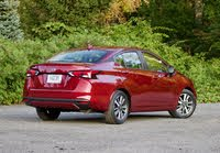 Rear 3/4 profile of the 2020 Nissan Versa., exterior, gallery_worthy