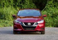 Front profile of the 2020 Nissan Versa., exterior, gallery_worthy