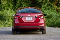 Rear profile of the 2020 Nissan Versa., exterior, gallery_worthy