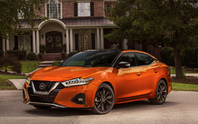 2020 Nissan Maxima front-quarter view, exterior, manufacturer, gallery_worthy