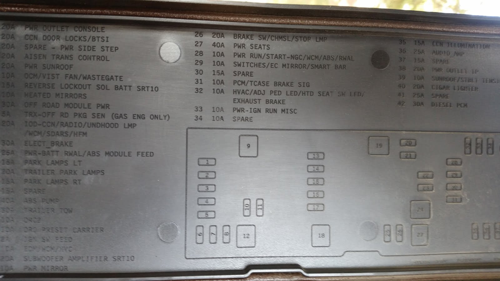 [SCHEMATICS_4JK]  Dodge RAM 1500 Questions - where is my fuel pump relay located for a 2006 Dodge  Ram 1500 Mega Cab... - CarGurus | 2007 Ram 1500 Fuse Box |  | CarGurus