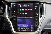 Infotainment system of the 2020 Subaru Legacy. Note the placement and size of Apple CarPlay., gallery_worthy