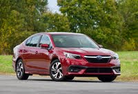 Front 3/4 profile of the 2020 Subaru Legacy., exterior, gallery_worthy