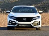 2020 Honda Civic Hatchback Sport Touring FWD, 2020 Honda Civic Hatchback Sport Touring White Front View, exterior, gallery_worthy