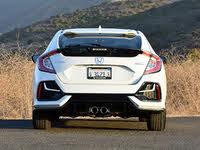 2020 Honda Civic Hatchback Sport Touring FWD, 2020 Honda Civic Hatchback Sport Touring White Rear View, exterior, gallery_worthy