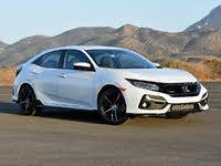 2020 Honda Civic Hatchback EX FWD, 2020 Honda Civic Hatchback Sport Touring White Front Quarter, exterior, gallery_worthy