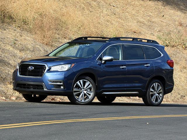 2020 Subaru Ascent Touring Blue Front Quarter