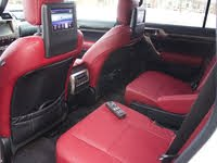 Second-row captains chairs of the 2020 Lexus GX. Note the seatback entertainment system and remote., interior, gallery_worthy