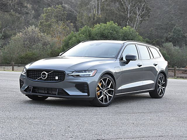 2020 Volvo V60 T8 Polestar Engineered Gray Front Quarter View