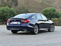 2020 Honda Accord Hybrid Touring Blue Rear Quarter Right, exterior, gallery_worthy